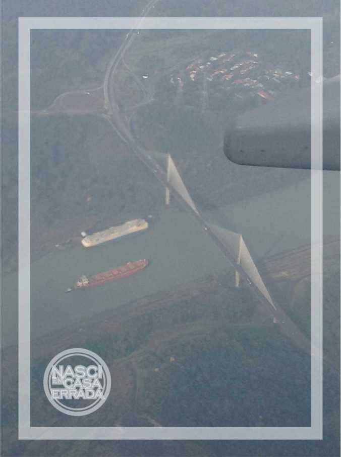 Vista do avião do Canal do Panamá